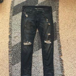 Ralph Lauren Distressed Skinny Jeans